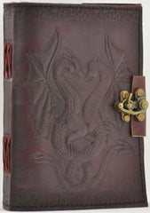 "5"" x 7"" Double Dragon Leather blank book"