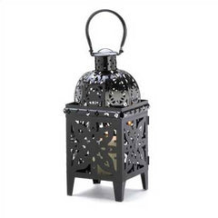 Black Medallion Lantern 19""
