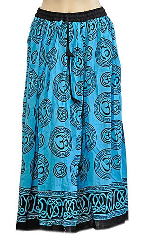 Blue Om Gypsy Skirt