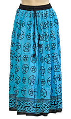 Blue Pentacle Gypsy Skirt