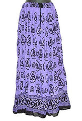 Triquetra Crinkle Gypsy Skirt-Blueish Purple