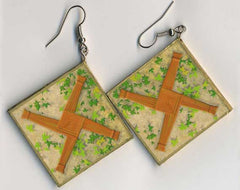 Brigid Cross Ultra-Light Paper Earrings