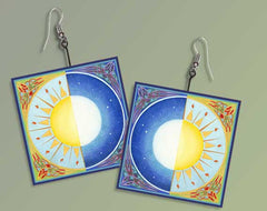 Celtic Equinox Sun and Moon Earrings