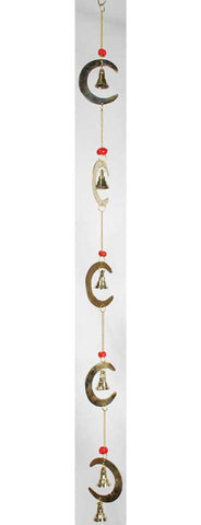 Crescent Moon Wind Chime 24""