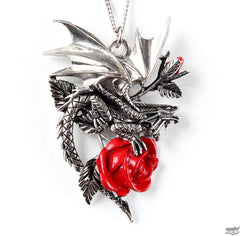 Draca Rosa Necklace for Charisma And Courage by Anne Stokes