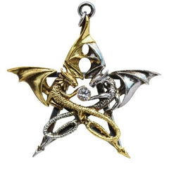 Draca Stella Necklace for Good Fortune by Anne Stokes