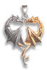 Dragon Heart Sterling Silver Necklace