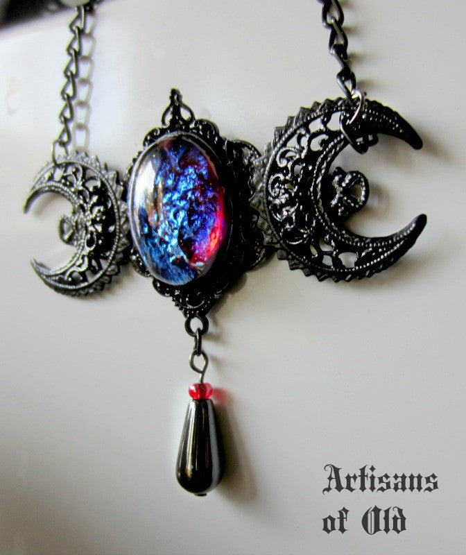 goddess pendant original on moon triple storenvy products necklace