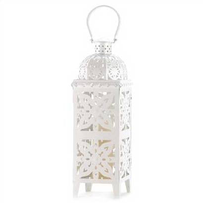 Giant Size White Medallion Lantern 25""