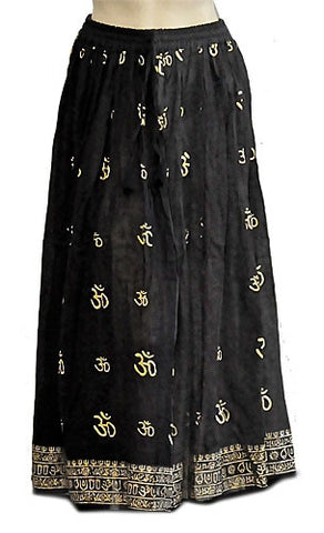 Gold Om Gypsy Skirt
