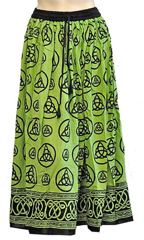 Green Triquetra Gypsy Skirt