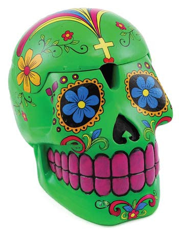 Green Day of the Dead Skull Box