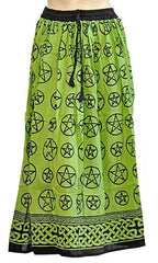 Green Pentacle Gypsy Skirt