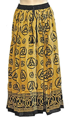 Yellow Triquetra Gypsy Skirt