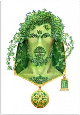"Ivy Green Man Original Art 12""x14"""