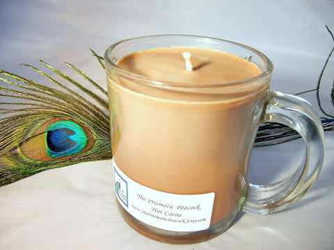 Hot Cocoa Scented Soy Candle in Glass Mug