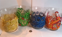 4 Elemental Candle Holders - Earth, Air, Fire, Water (set of 4)