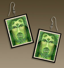 Ivy Green Man Ultra-Light Paper Earrings