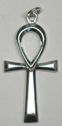 Large Silver Ankh Pendant