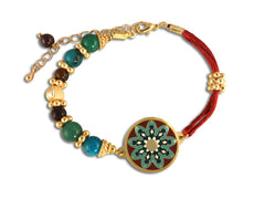 Mystic Bead Mandala Bracelet for Independence, Concentration and Discipline