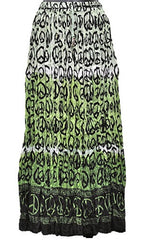 Green Peace Symbol Gypsy Skirt