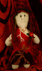 Pele, Goddess of Fire Handmade Doll