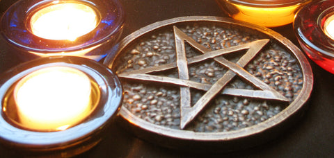 Hand Made Solid Bronze Altar Pentacle