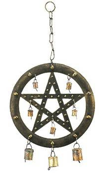 Pentacle Bells Wind Chime