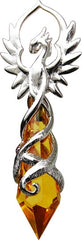 Phoenix Crystal Flame Pendant for Renewed Energy and Confidence - Anne Stokes