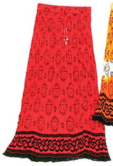 Red Pentacle Gypsy Crinkle Skirt
