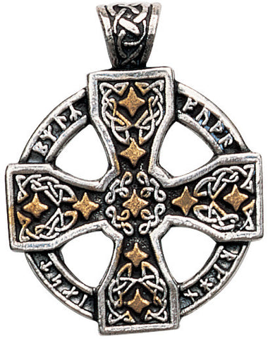 Runic Cross Pendant for Knowledge and Magical Ability