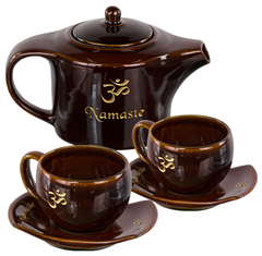 Om Namaste Tea Set-Ceramic