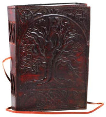 "Sacred Oak Tree Leather Blank Book 5"" x 7"""