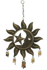 Sun and Moon Metal Wind Chimes