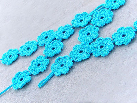 Turquoise Flower Barefoot Sandals