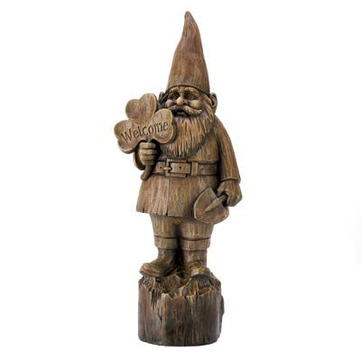 Welcome Gnome Statue