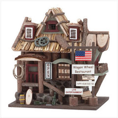 Wooden Wagon Wheel Restaurant Bird & Fairy House