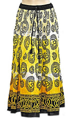 Yellow Om Gypsy Skirt