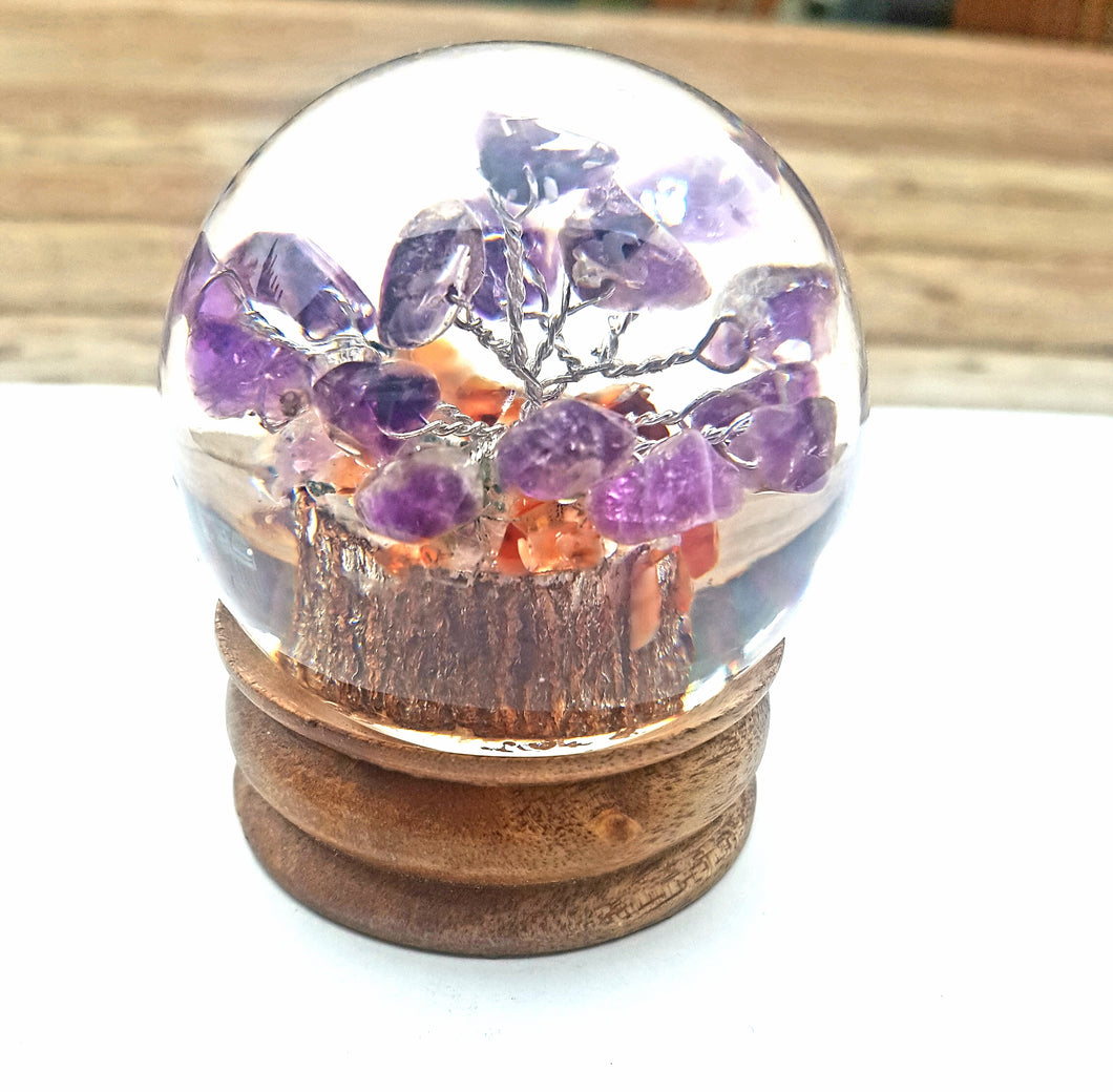 Amethyst Tree in Orgonite Sphere | Star Soul Metaphysics