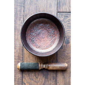 "Singing Bowl 6"" Brown