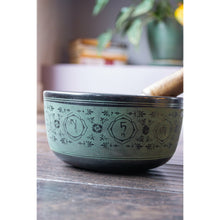 "Load image into Gallery viewer, Singing Bowl 6"" Green 