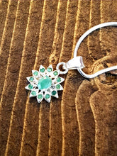 Load image into Gallery viewer, Emerald Sterling Silver Necklace