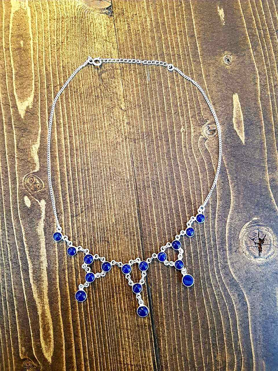 Lapis Lazuli Necklace Sterling Silver