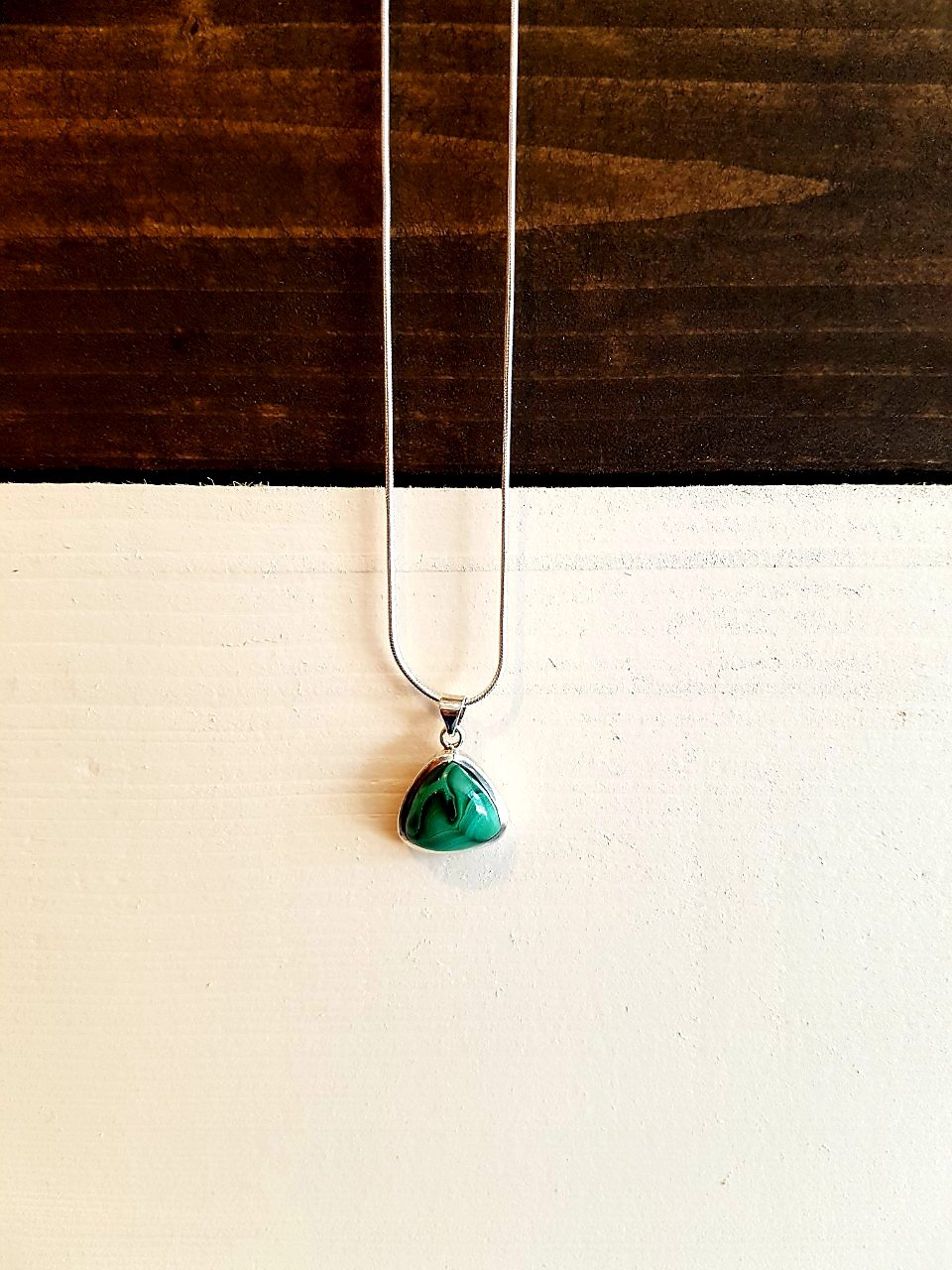 Malachite Silver Necklace