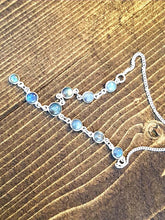 Load image into Gallery viewer, Rainbow Moonstone Sterling Silver Necklace