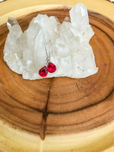 Load image into Gallery viewer, Red Tourmaline Earrings | Star Soul Metaphysics
