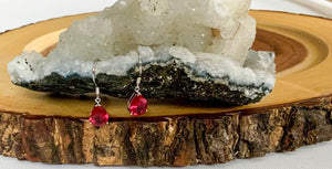 Red Tourmaline Earrings | Star Soul Metaphysics