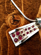 Load image into Gallery viewer, Ruby Sterling Silver Necklace