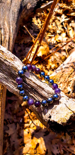 Amethyst and Hematite Bracelet-Star Soul Metaphysics