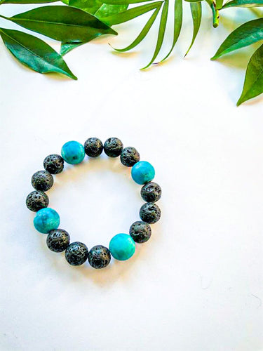 Chrysocolla and Lava Stone Bracelet | Star Soul Metaphysics